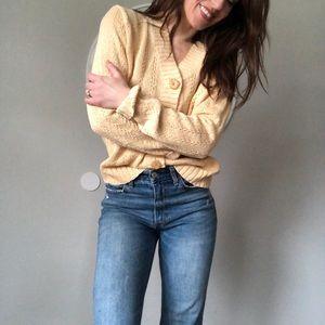 Vintage vneck oversized cardigan